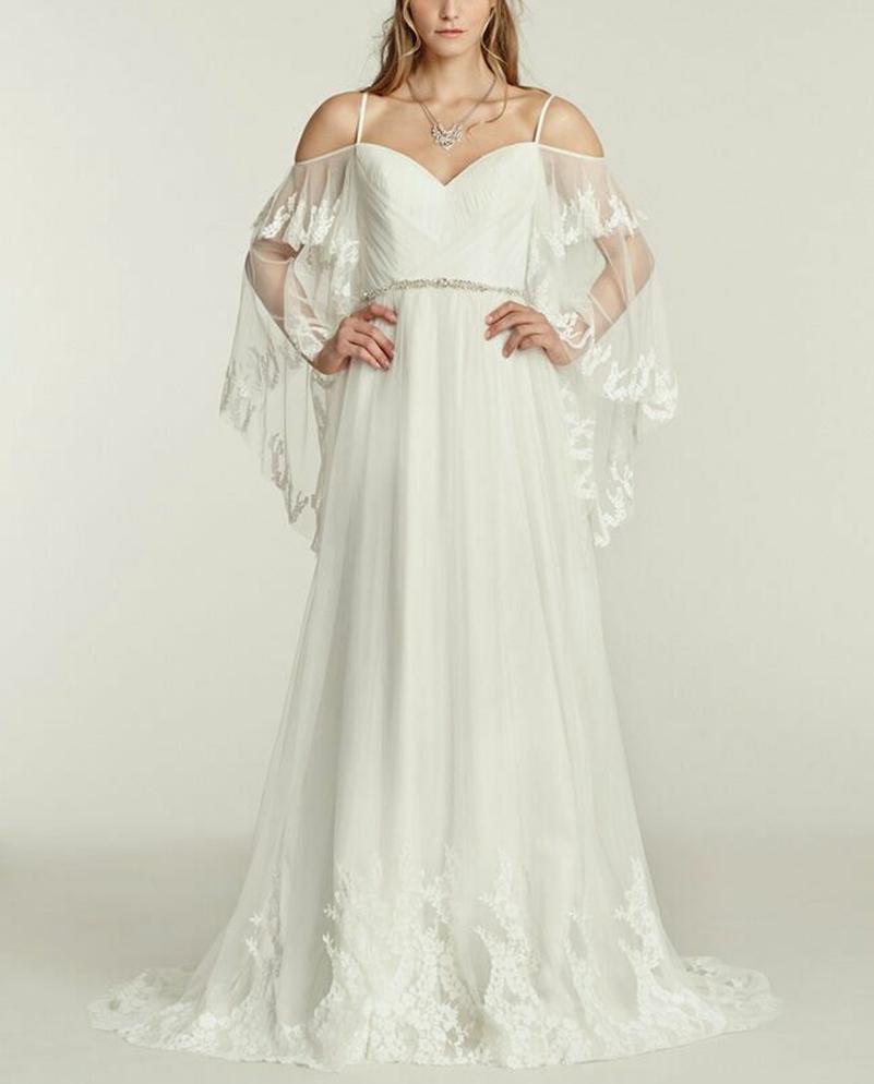 Sundress For Wedding: Summer Beach Wedding Dresses Casual V Neck Straps White