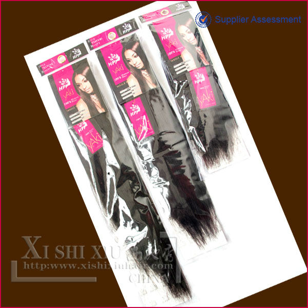 Best seller popular machine made synthetic Yaki cheap weft hair extension