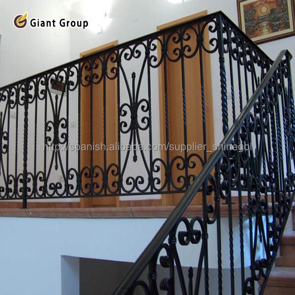 Pasamano de hierro para la casa barandillas y pasamanos - Pasamanos de hierro forjado para escaleras ...