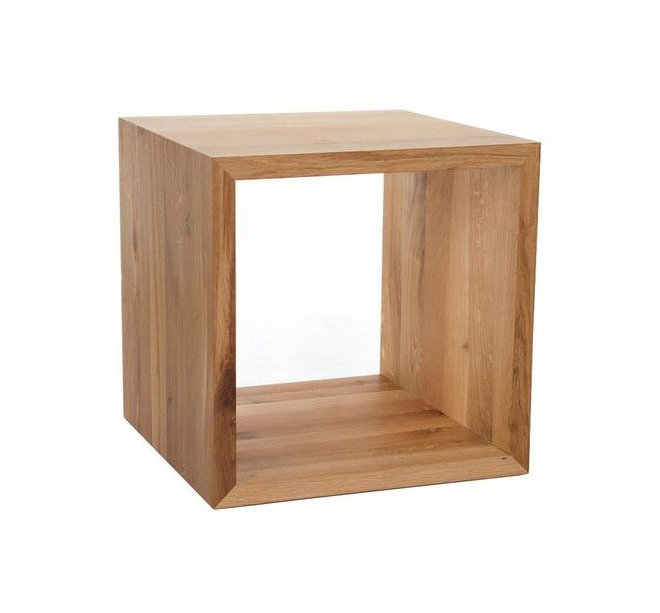 Close cube side table / wooden square side table
