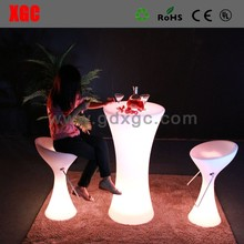 RGB 16 colors LED color changing night club furniture, led night club table 2018