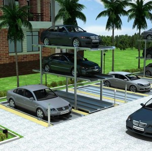 stack parking 2 floor/automatic parking parking reservation/rotating car storage lift smart parking