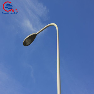 6-12meters Galvanized Octagonal street lighting pole with single or double arm