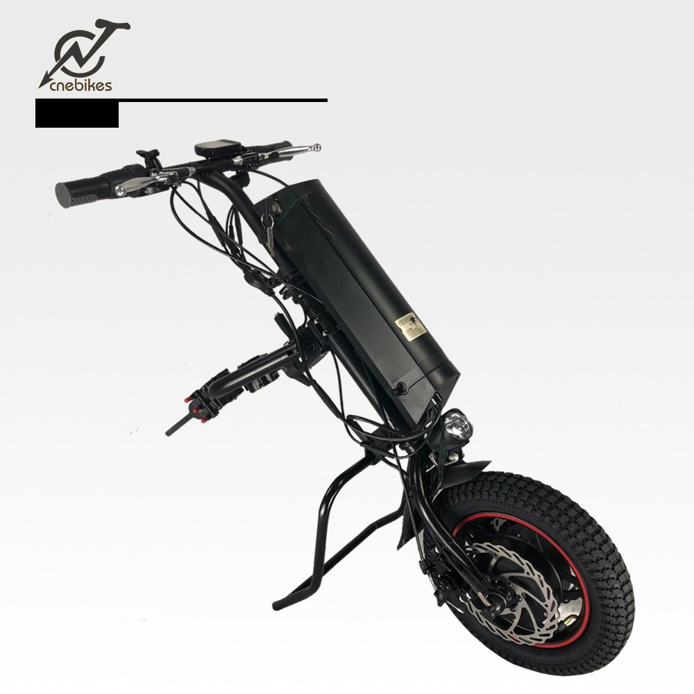Easy to use 36v 350w in wheel hub motor wheelchair attachments electric wheelchair trailer handcycle