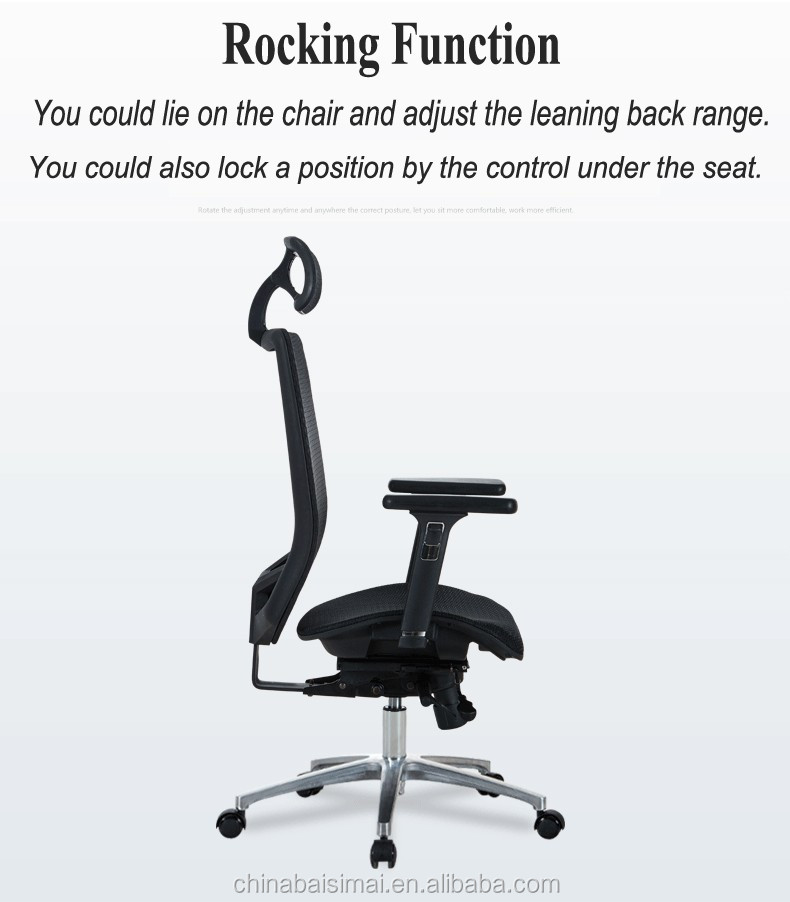 B04# Cool Office Furniture Lumbar Support Black And White Office Chair