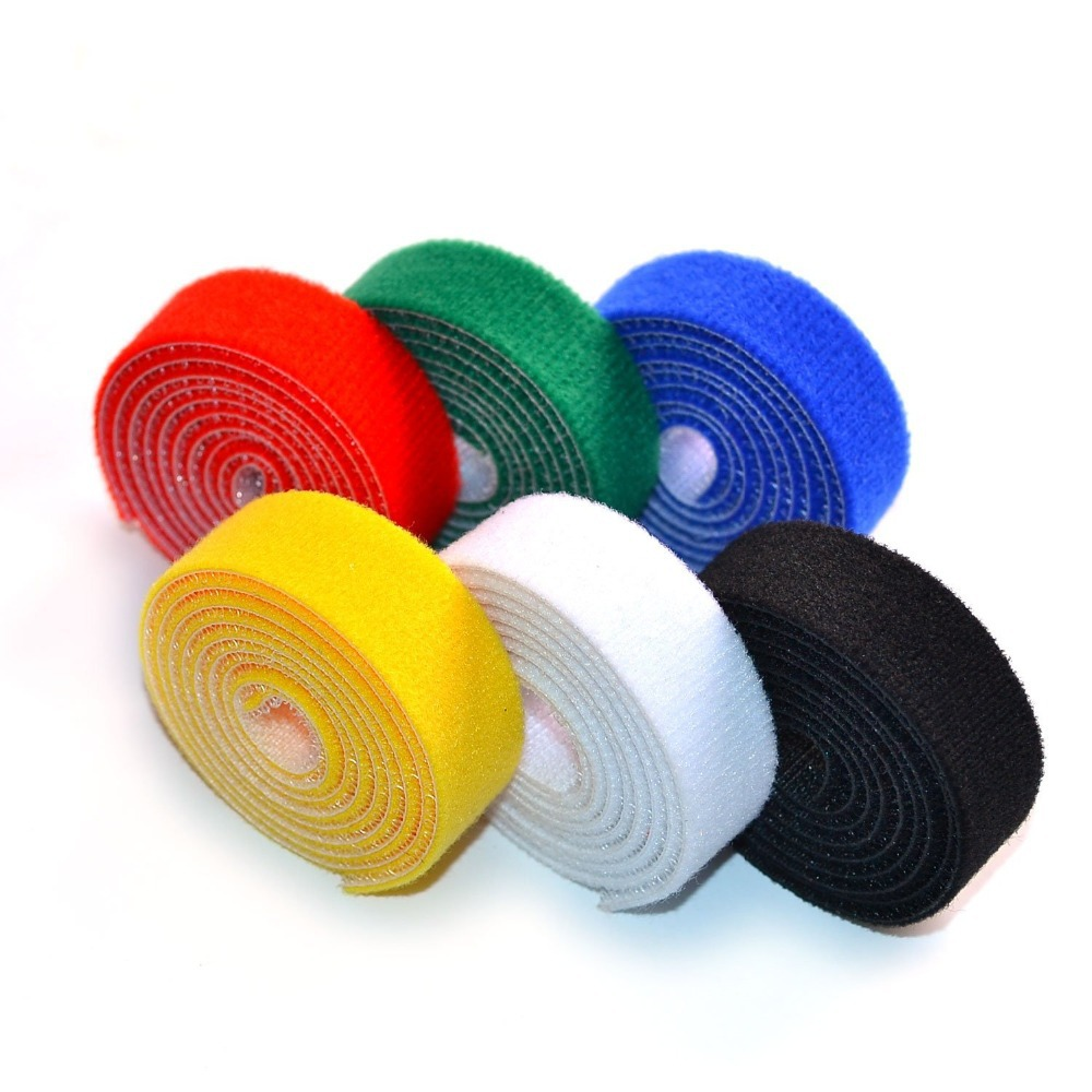 5b659b8cf429 Get Quotations · Red 3 Yard/Roll Velcro Cable Fastening Tape 0.39 inch Velcro  Cable Ties Organizers One