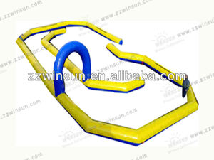 Inflatable race track/car racing items for kids outdoor play