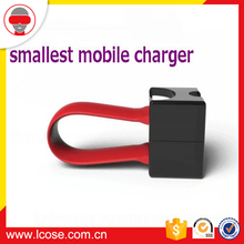 new products 2017 portable World's smallest emergency mobile phone charger with AAA battery for iPhone