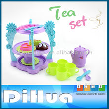Pretend Play Kitchen Toys Kids Playset English Afternoon Tea