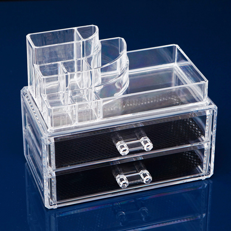 3 tier cosmetic holder organzier organizer storage cosmetic box for home acrylic makeup storage boxes