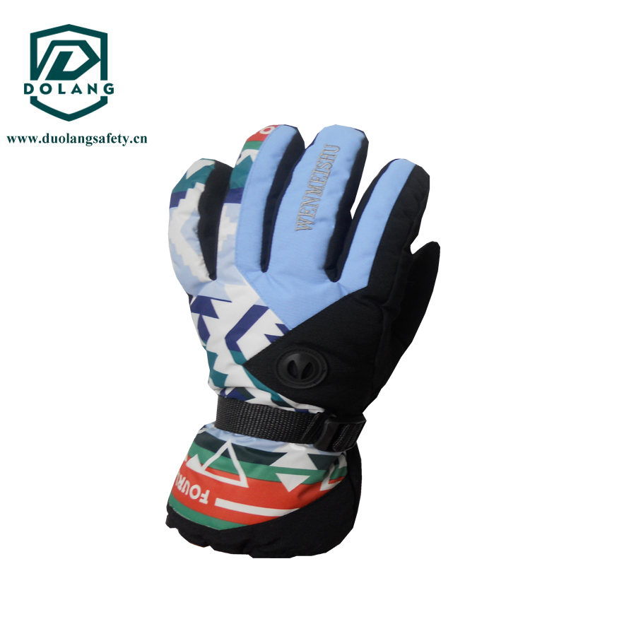 2016 100% Polyester Outdoor Ski heated Snowboard Gloves for men