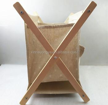 Whole Wooden Fabric Magazine Rack