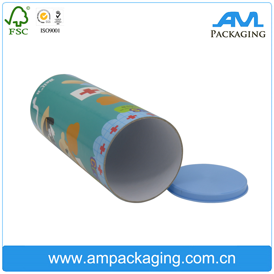 Dongguan Factory rigid paper board paper tube packaging gift box with end cap