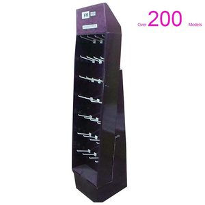 Extra Strong Floor Display Stands Cardboard with J-peg Hooks For Supermarket Retail Displays