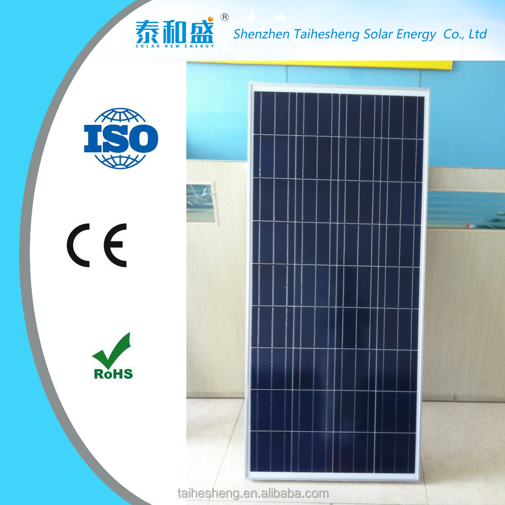 China pv module / 150w 36v poly solar paenl for 25 years warranty