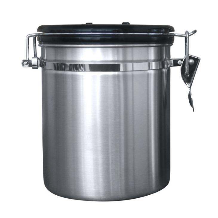 Bo/îte /à Caf/é Herm/étique R/écipient de Stockage /étanche /à lair en acier inoxydable Pot de stockage des aliments avec suivi de la date pour les aliments de cuisine Sucre Th/é Caf/é en grains
