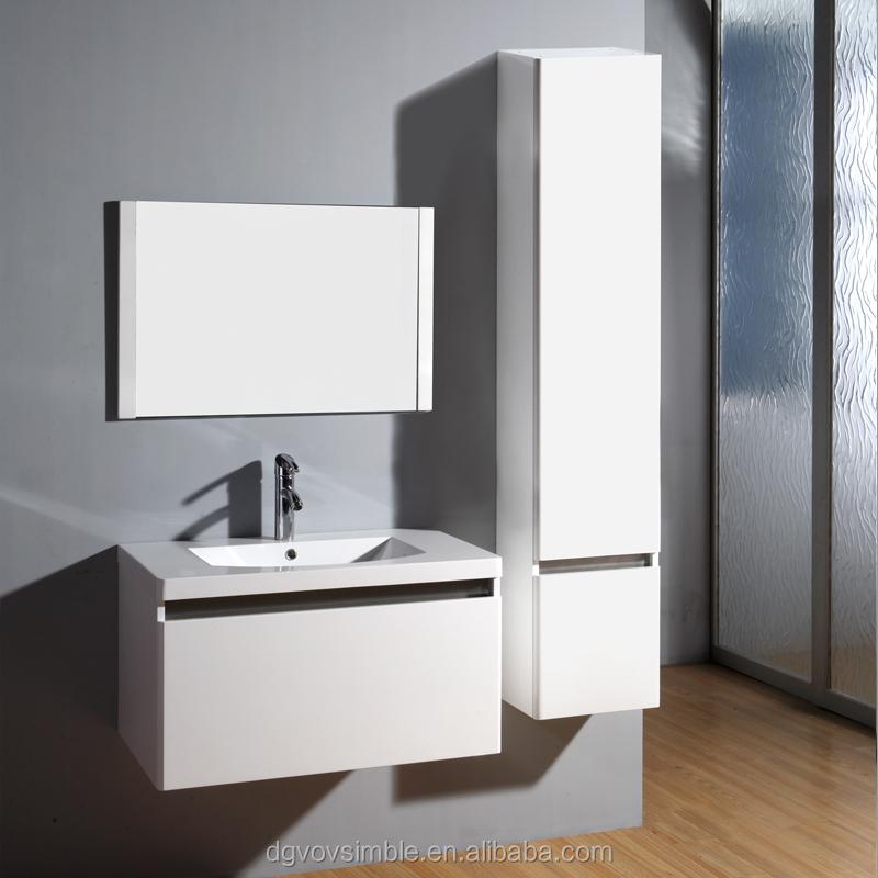 Simble brand white waterproof bathroom cabinet bathroom for Waterproof bathroom cabinets