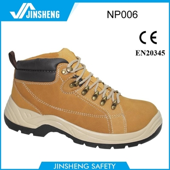 Brand Cattle Yellow Nubuck Woodland Safety Shoes