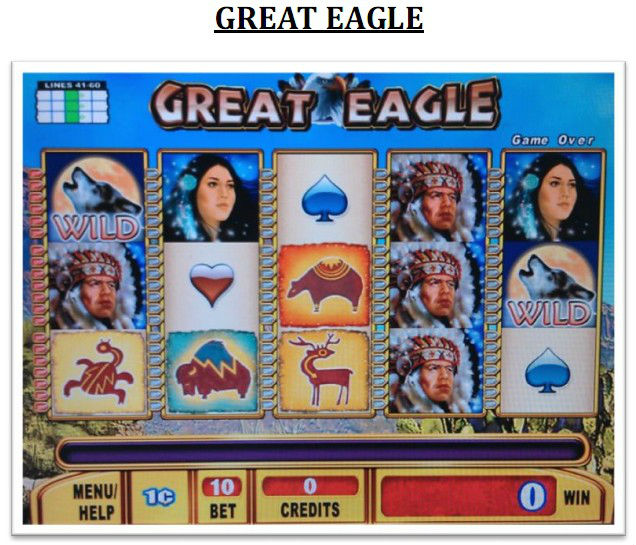 GREAT EAGLE(20)- WMS NXT1 gambling game board