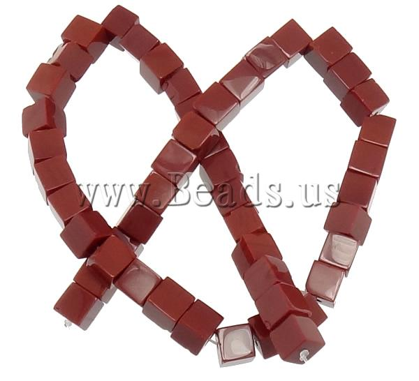 Free shipping!!!Jade Beads,korean, Jade Red, Cube, natural, 8x8x8mm, Hole:Approx 1mm, Length:Approx 15.5 Inch, 10Strands/Lot