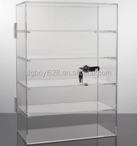 factory made Custom Modern Stylish Look Clear Acrylic Box with key