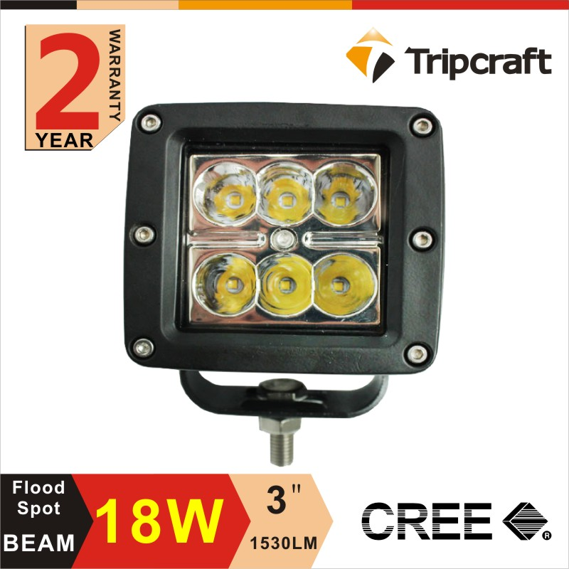 China factory fastest shipping Guangzhou 12v 18w Led Work Light for Cars , trucks , auto parts