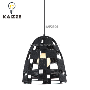 irontextile cords hotel retro decoration pendant lampindustrial creative drop light