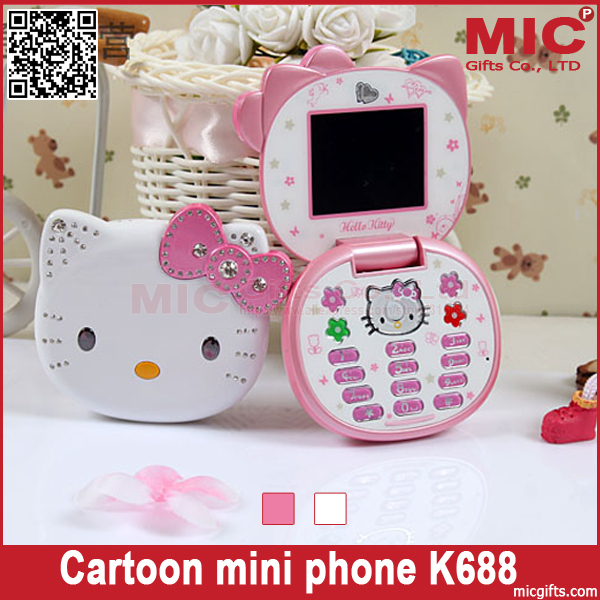 Flip Lovely Unlocked Small Women Kids Girls Diamond Hellokitty Location Cute