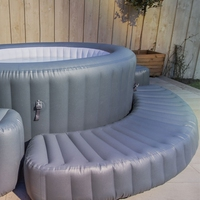 Bestway 58436 lay z spa inflatable hot tub surround portable plastic steps
