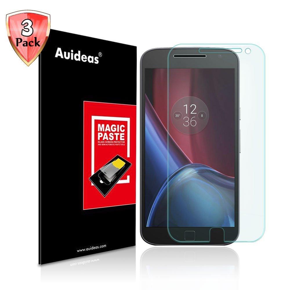 Motorola Moto G 4th Gen Plus Screen Protector,Auideas Motorola Moto G 4th Gen Plus Tempered Glass Screen Protector for Motorola Moto G 4th Gen Plus [3-Pack]