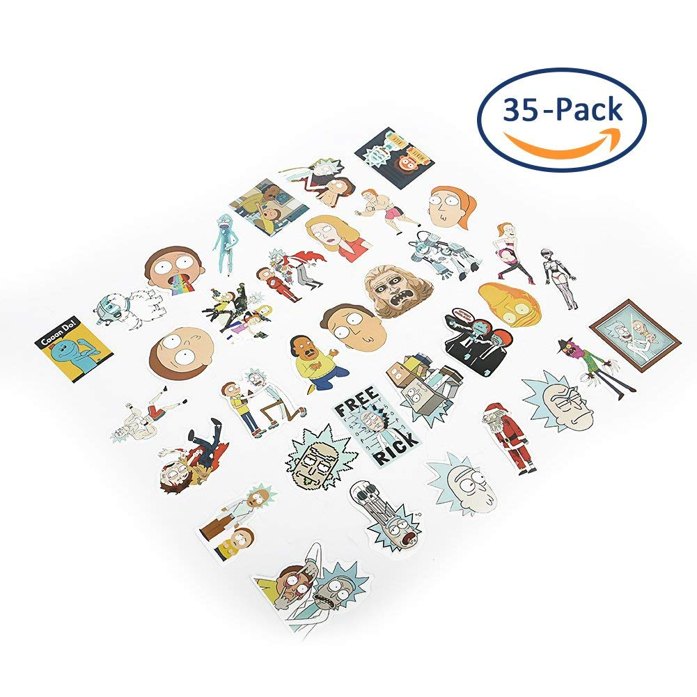 Cartoon Stickers, Sarissa Waterproof Vinyl Stickers Car Sticker Motorcycle Bicycle Luggage Decal Graffiti Patches Skateboard Stickers for Laptop Stickers 35 PCS