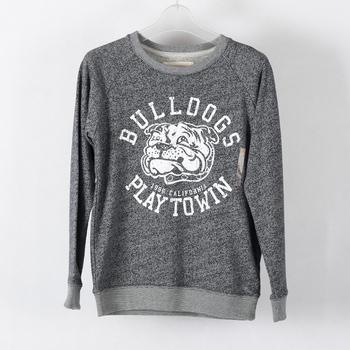 Cotton Blend Oem Custom Crewneck Sweatshirt Placement Printed
