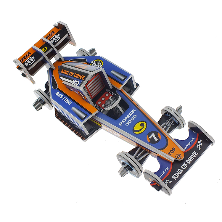 Best selling 3d racing series puzzle toy car