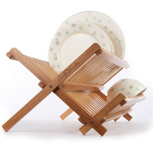 Lovely Drying Full-Size Dinner Plates Bamboo Dish Rack