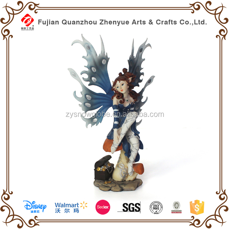 2015 cheap polyresin garden fairy