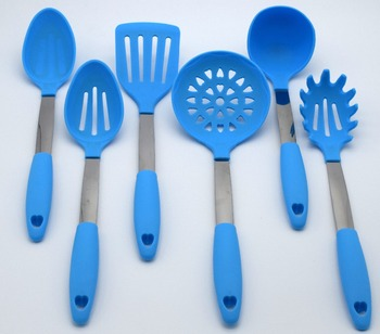 Food Grade Silicone With Stainless Steel Handle Utensils Cooking Tool Set Silicon Kitchen Gadgets