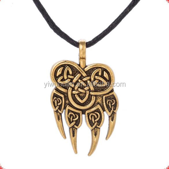 QM039 Huilin Jewelry Big Axe Pendant Viking Celtic Perun's Slavic Jewelry Punk Men Collier Necklace