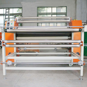 Rotary Heat Calendar/Heat Press Roller for sublimated fabric garment sportswear in 1.2m wide transfer press
