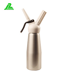 aluminum 500ml polished cream whipper, whipping cream whipper with three nozzles