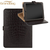 Hot Selling leather cover crocodile texture leather high quality stand filp case for Ipad mini