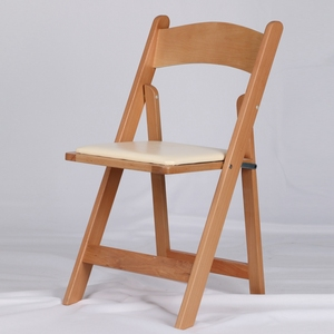 Natural White Colors Wood Wimbledon Americana Folding Chair