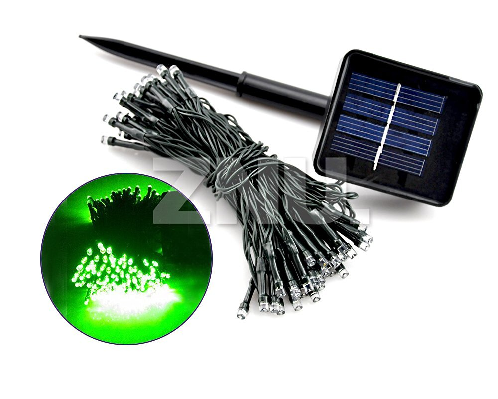 Solar AC Battery Power 50 200 LED Fairy String Indoor Outdoor Decor Light Color:Green Power Model:Battery Power Number of LED:20