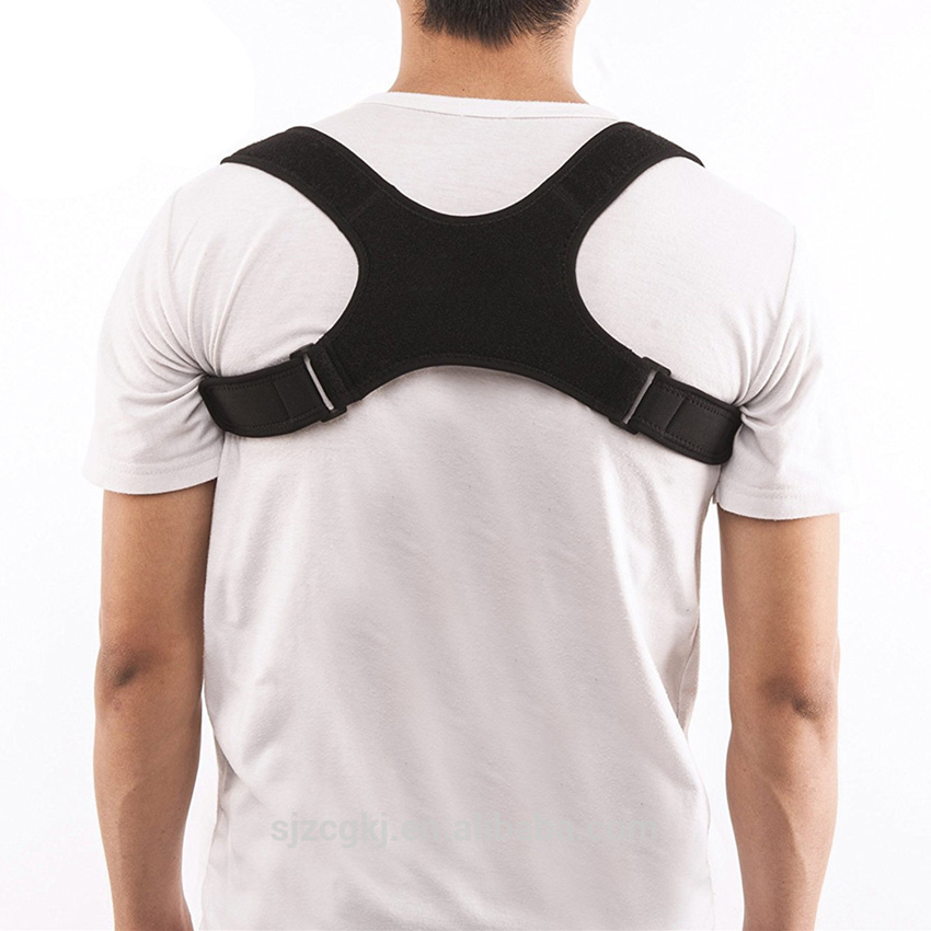 Shoulder support back posture corrective brace, back support band belt posture corrector for man and woman, Black