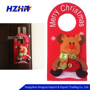 Good Quality Felt Christmas Door Hanger Santa Snowman Household Christmas Ornaments Door Handle Hanger