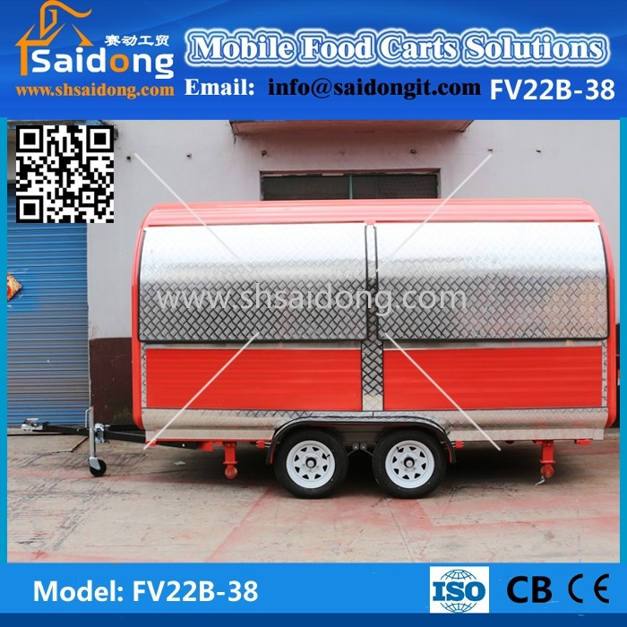 Buy Electric heated crepe food kiosk for sale/outdoor food kiosk design/van for fast food
