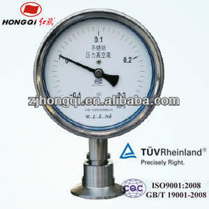 "100mm(4"") YTP-100MC Ferrule type diaphragm pressure gauge -0.1~0.3Mpa"