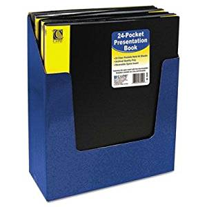 "C-Line - 4 Pack - Bound Sheet Protector Presentation Book 24 Sleeves 11 X 8-1/2 Black ""Product Category: Binders & Binding Systems/Presentation Books"""
