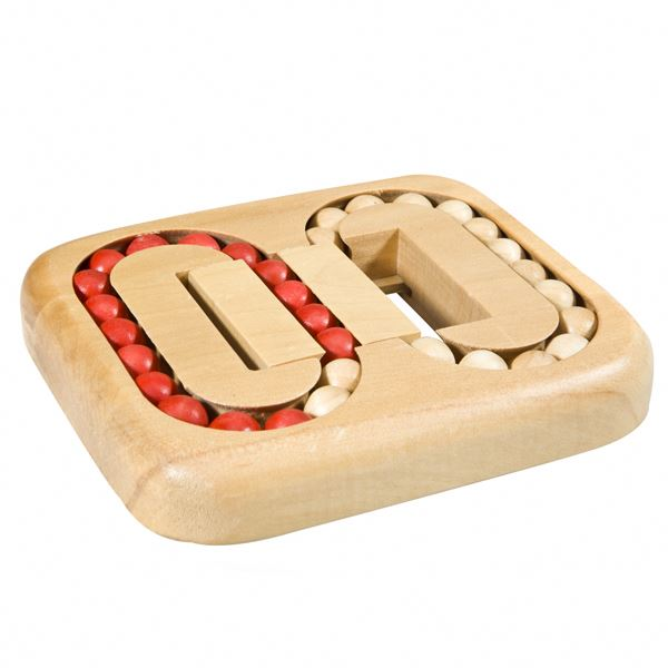 Double Rings Game,brain teaster wooden toy PY4158