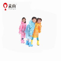 Maiyu cheap yellow raincoat for kids with bag