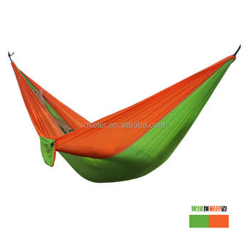 Good Quality Colorful and Customization Provided 2 Person Use Nylon Parachute Anti-tear Hammock for Outdoor Activity